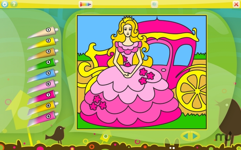 Screenshot 1 for Color by Numbers - Princesses