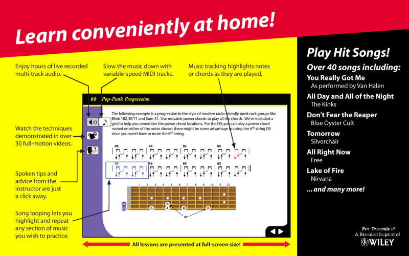 Screenshot 1 for Rock Guitar for Dummies