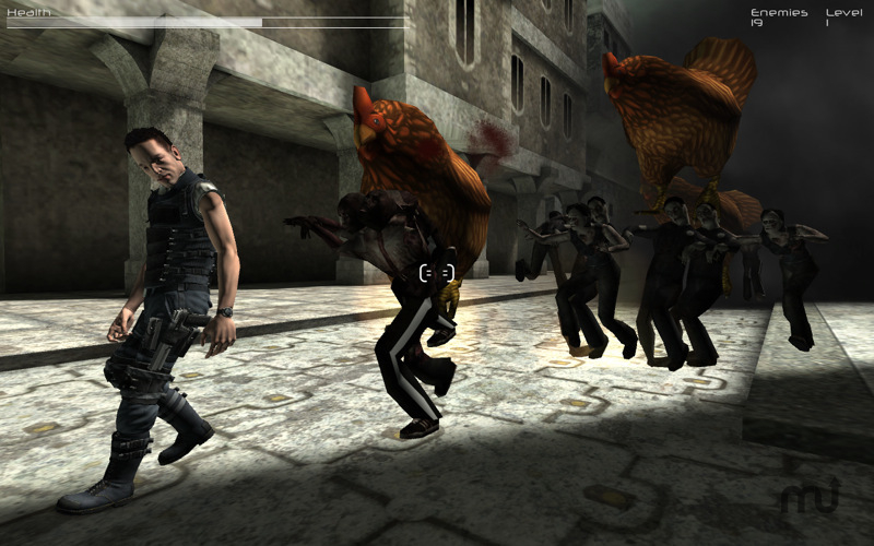 Screenshot 1 for Robots Zombies and Giant Chickens