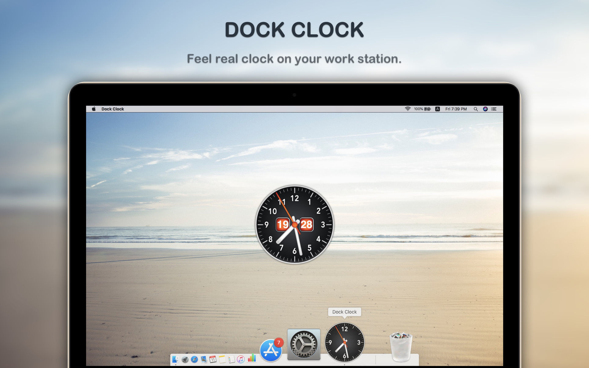 Screenshot 1 for Dock Clock