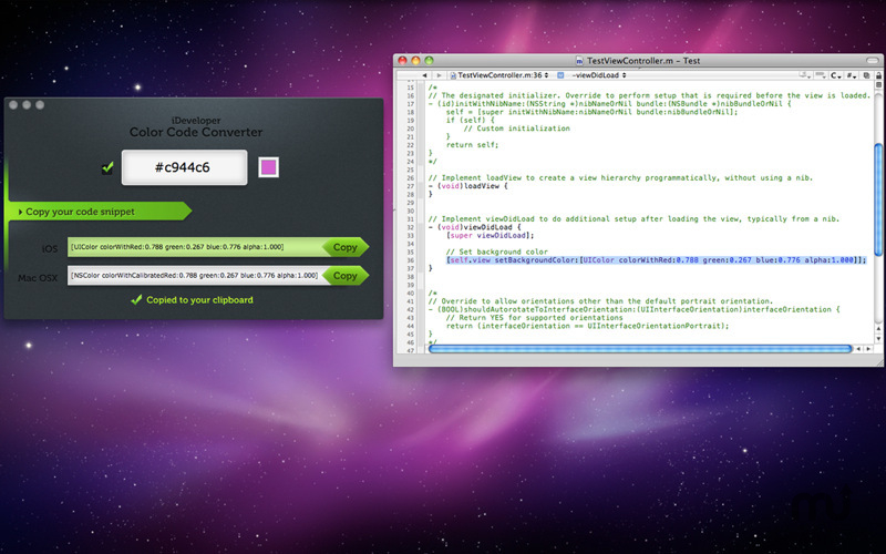 Screenshot 1 for iDeveloper - Color Code Converter
