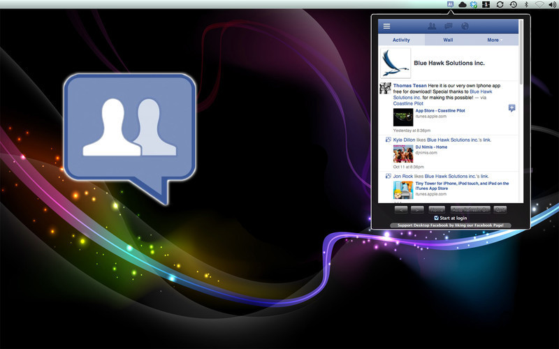 Screenshot 1 for Social Tab