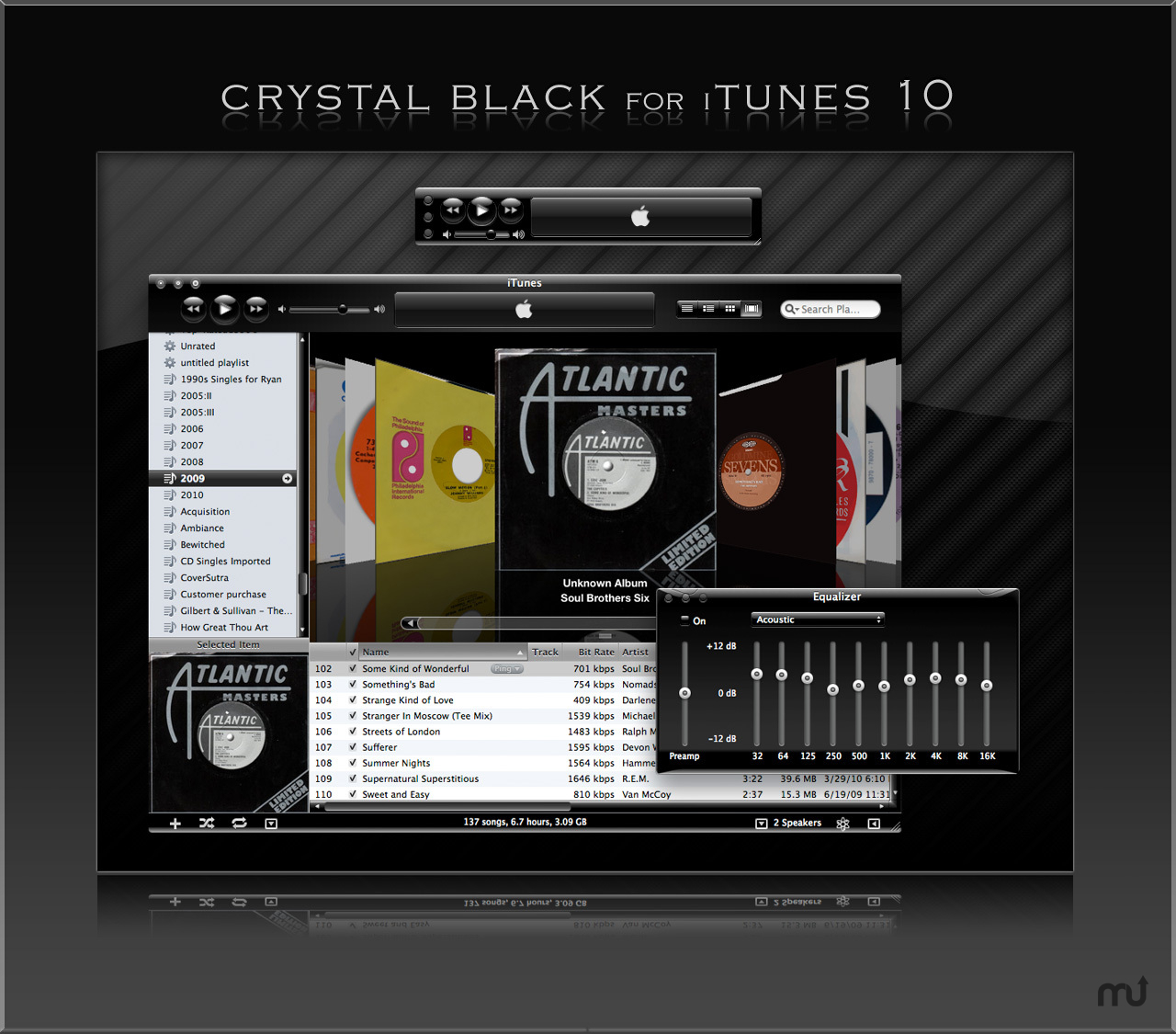 Screenshot 1 for Crystal Black for iTunes