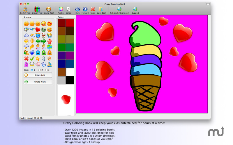 Screenshot 1 for Crazy Coloring Book
