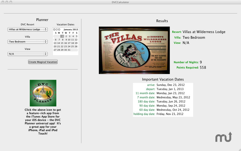 Screenshot 2 for DVC Calculator