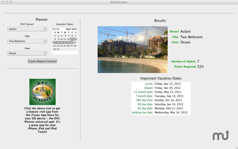 Screenshot 3 for DVC Calculator