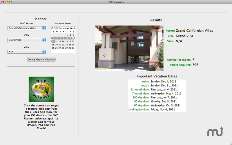 Screenshot 5 for DVC Calculator