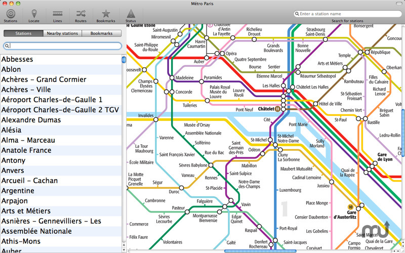 Screenshot 1 for Paris Metro