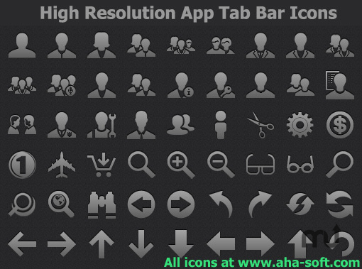 Screenshot 1 for High Resolution App Tab Bar Icons