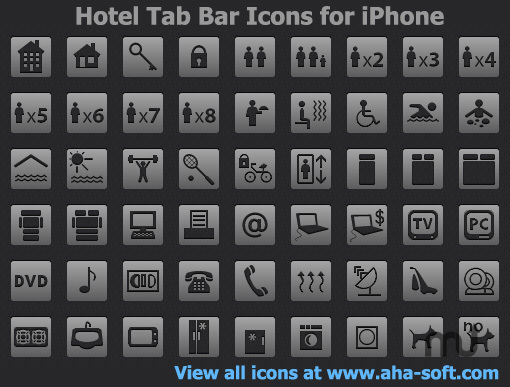 Screenshot 1 for Hotel Tab Bar Icons for iPhone