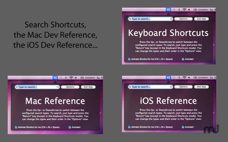 Screenshot 1 for X4Shortcuts