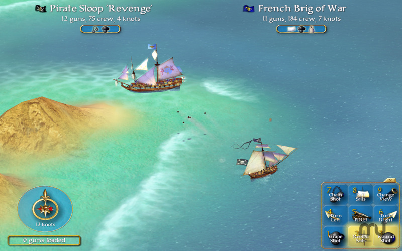 Screenshot 1 for Sid Meier's Pirates!