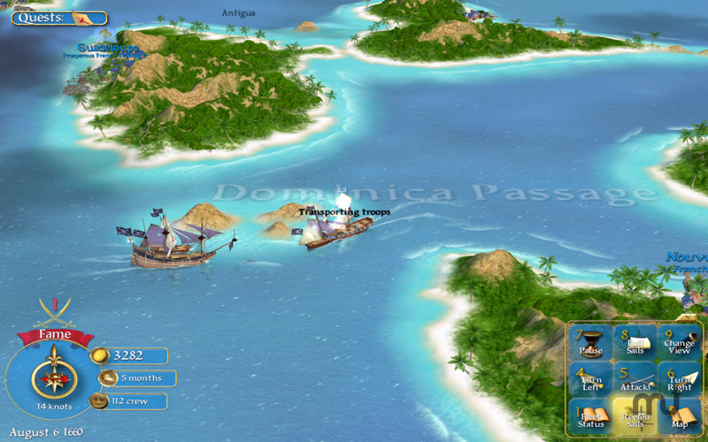 Screenshot 3 for Sid Meier's Pirates!