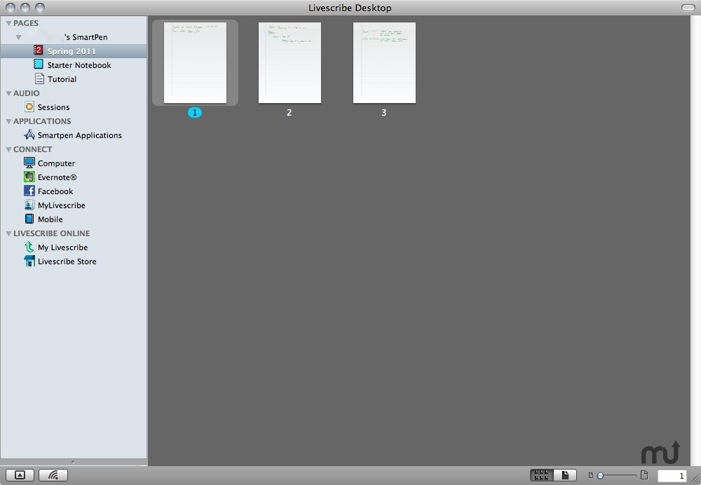 Screenshot 1 for Livescribe Desktop