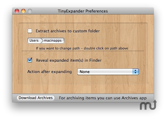 Screenshot 1 for TinyExpander
