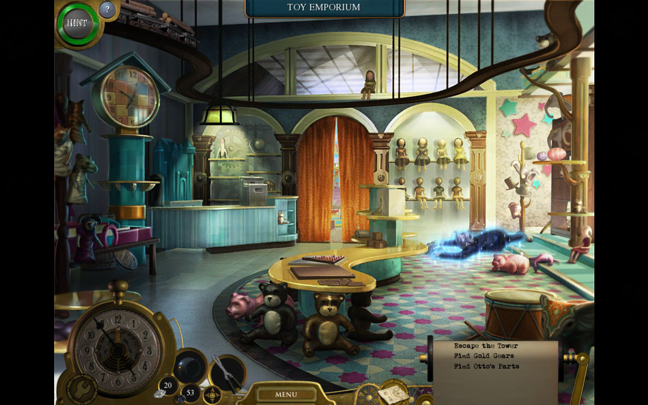Screenshot 1 for Lost in Time: The Clockwork Tower