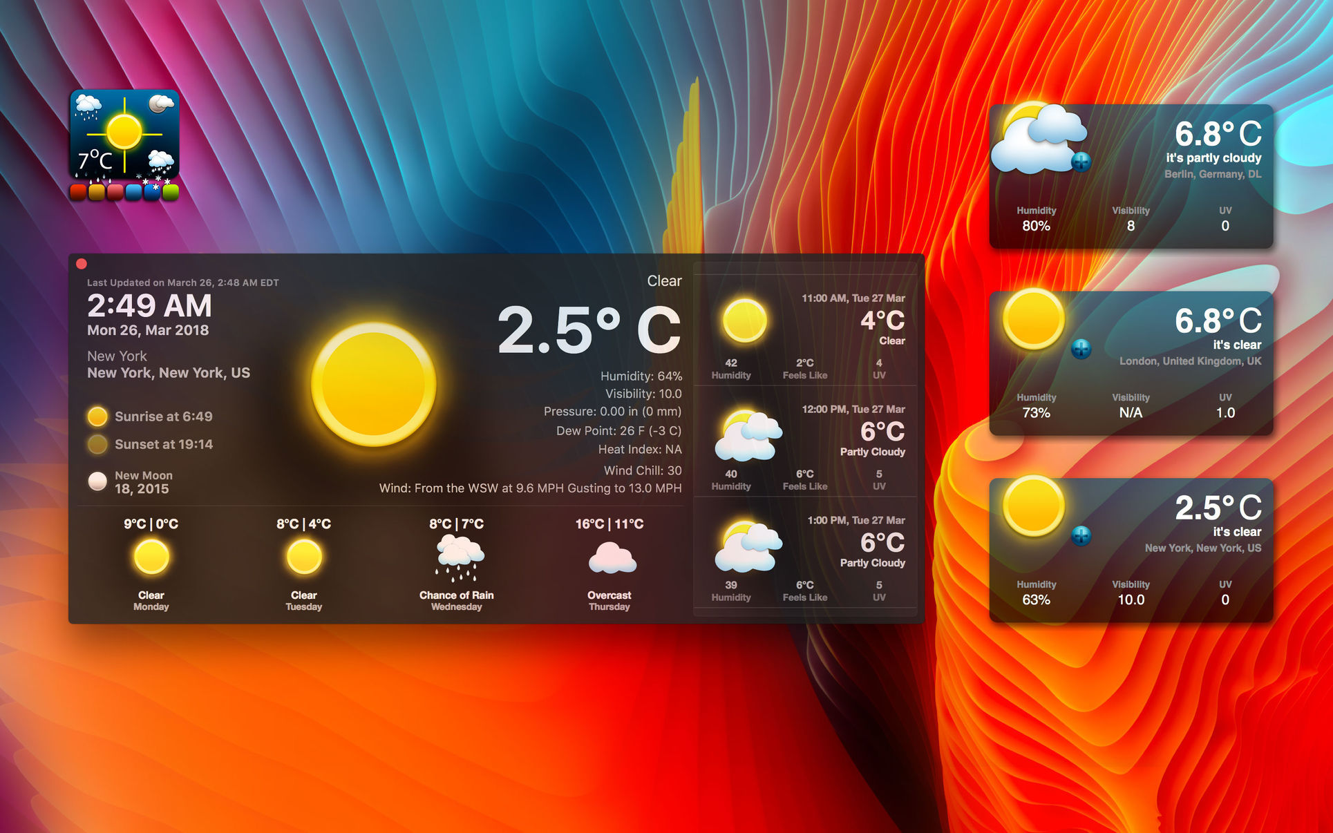 Screenshot 1 for Live Dock Weather