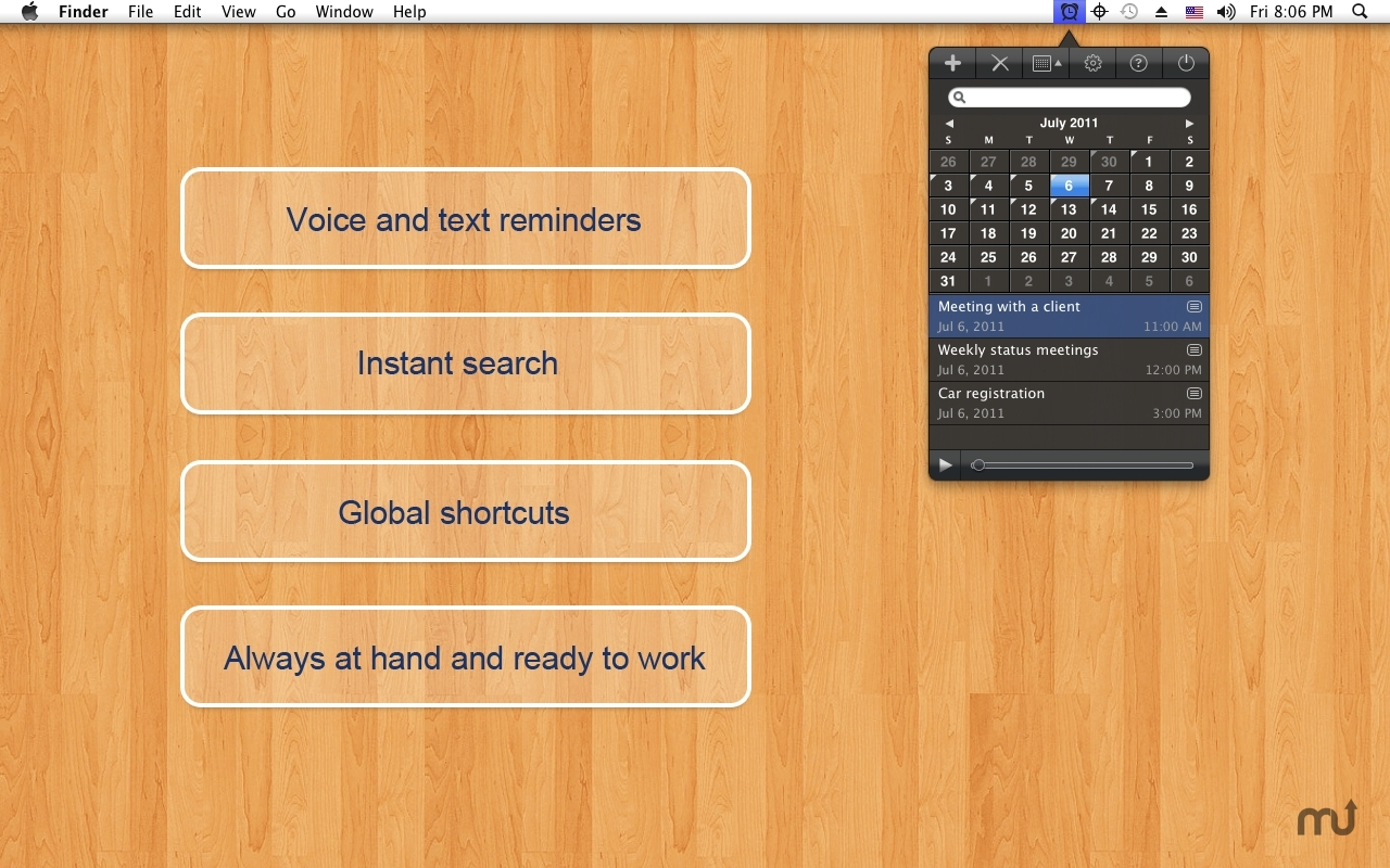 Screenshot 1 for Voice Reminder EX