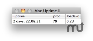 Screenshot 1 for Mac Uptime II