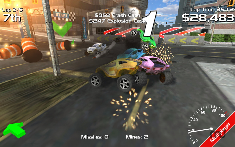 Screenshot 1 for Hard Rock Racing