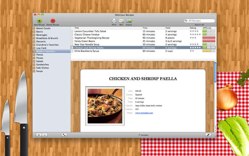 Screenshot 1 for Delicious Recipes