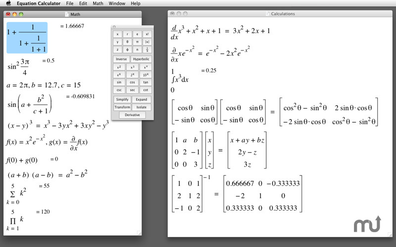 Screenshot 1 for Equation Calculator