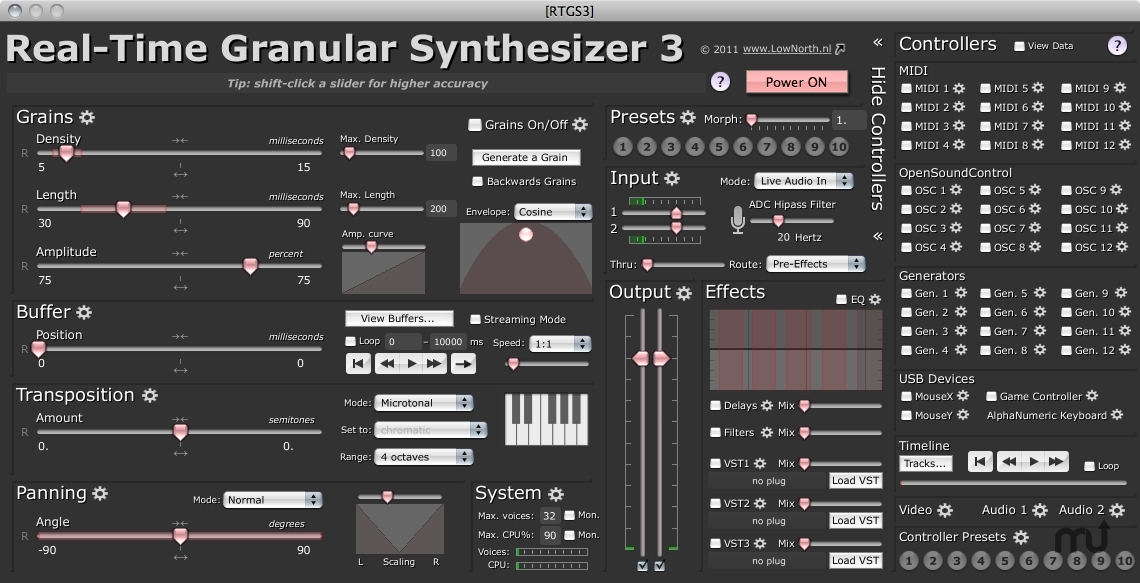 Screenshot 1 for Real-Time Granular Synthesizer