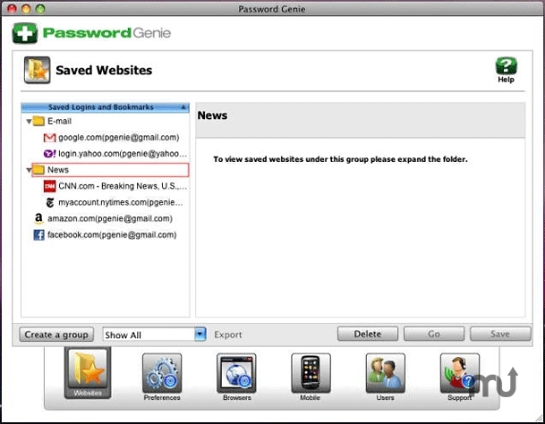 Screenshot 1 for Password Genie