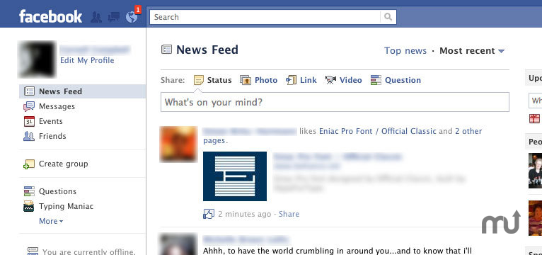 Screenshot 1 for FacebookNotifier Safari Extension