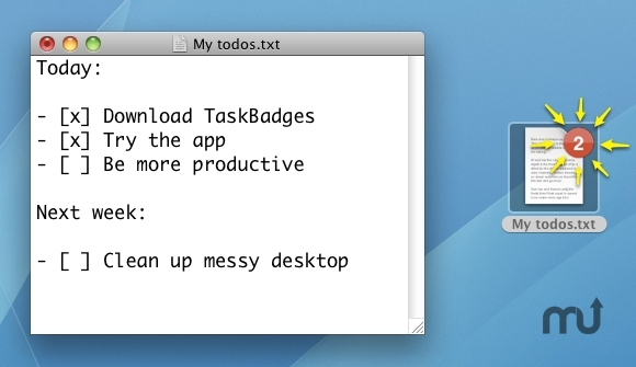 Screenshot 1 for TaskBadges