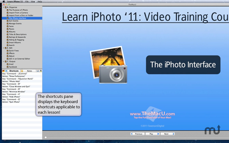 Screenshot 1 for Learn iPhoto '11