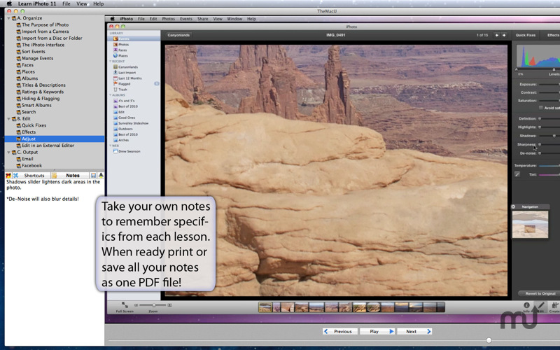 Screenshot 3 for Learn iPhoto '11