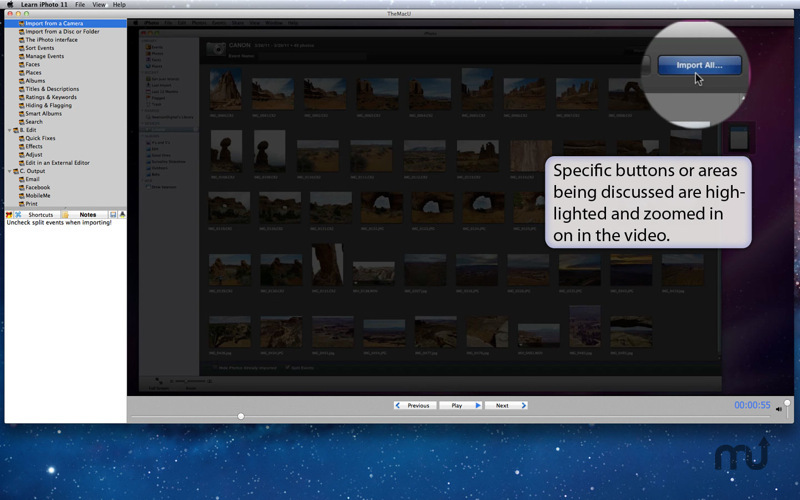 Screenshot 4 for Learn iPhoto '11