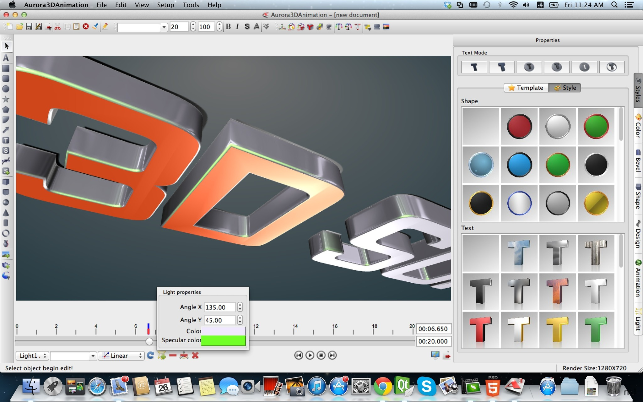 Screenshot 5 for Aurora 3D Animation Maker