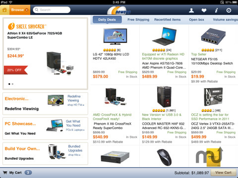 Screenshot 1 for Newegg for iPad