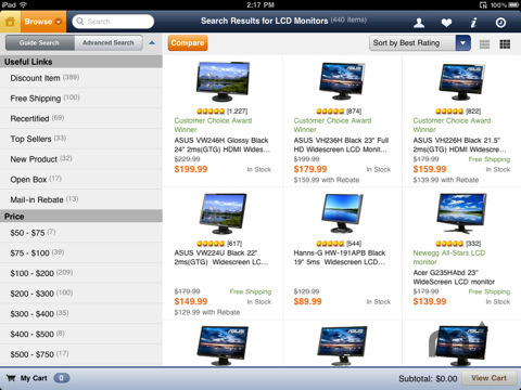 Screenshot 2 for Newegg for iPad