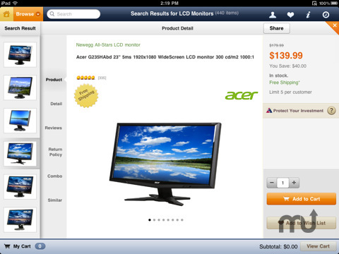 Screenshot 3 for Newegg for iPad