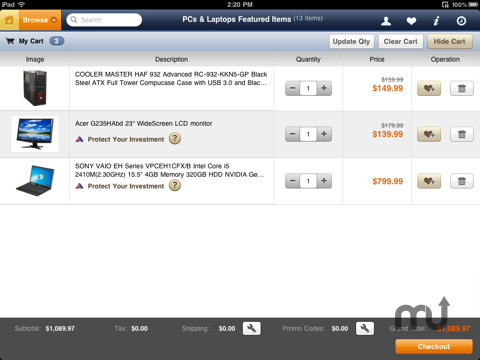 Screenshot 4 for Newegg for iPad