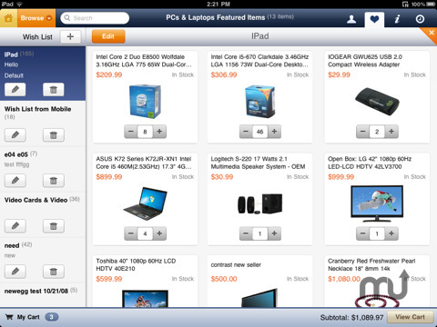 Screenshot 5 for Newegg for iPad