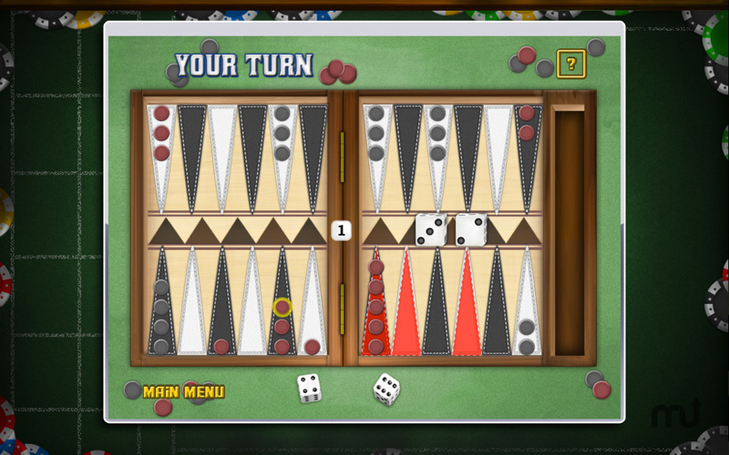 Screenshot 2 for Backgammon Deluxe Free!