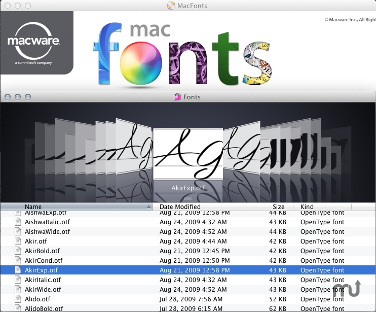Screenshot 1 for MacFonts Complete Collection