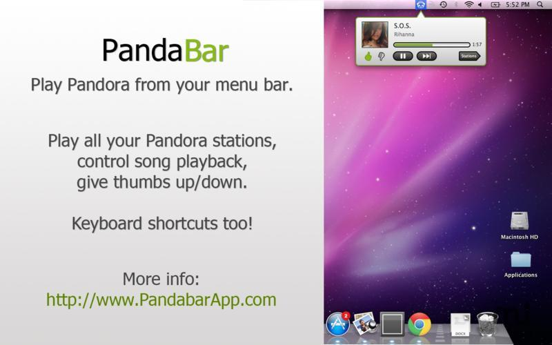 Screenshot 1 for PandaBar