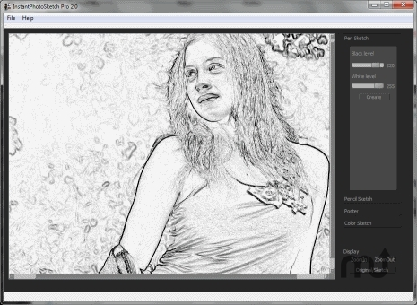 Screenshot 1 for InstantPhotoSketch Pro