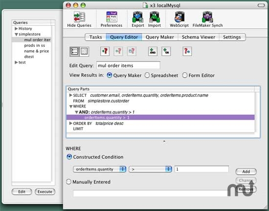 Screenshot 1 for MacSQL