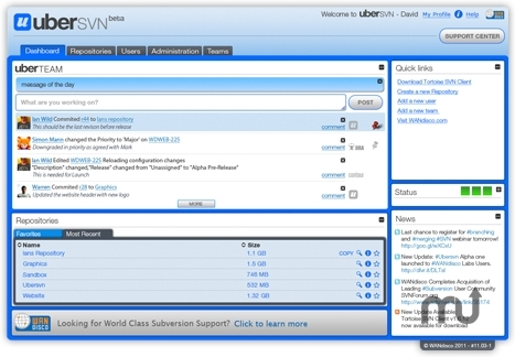 Screenshot 1 for uberSVN