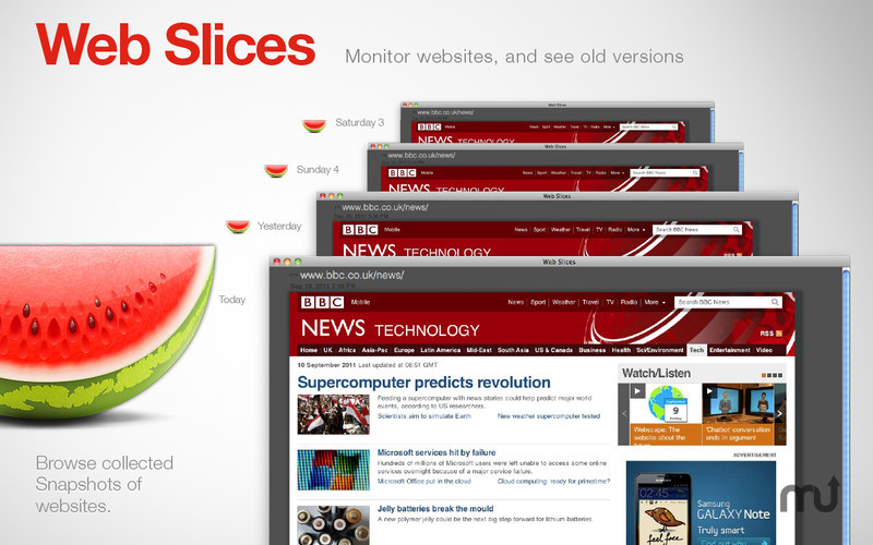 Screenshot 2 for Web Slices