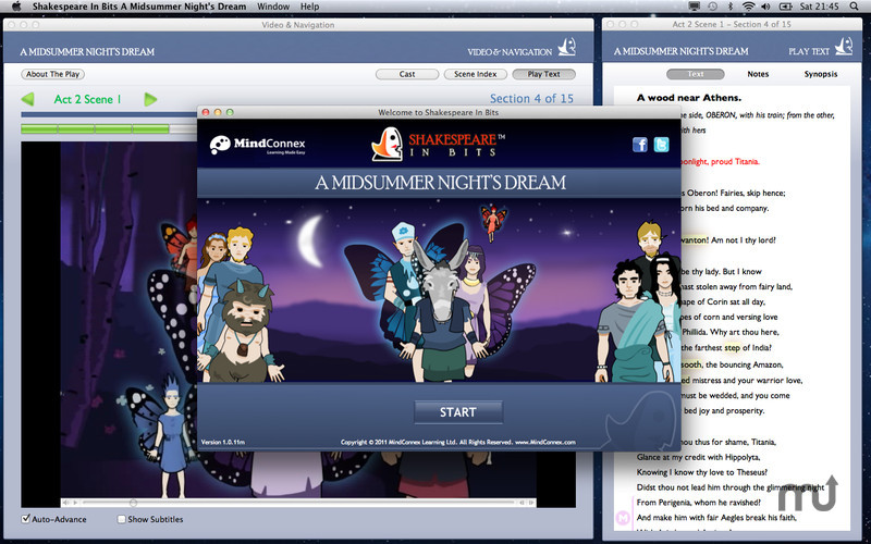 Screenshot 2 for Shakespeare In Bits: A Midsummer Night's Dream