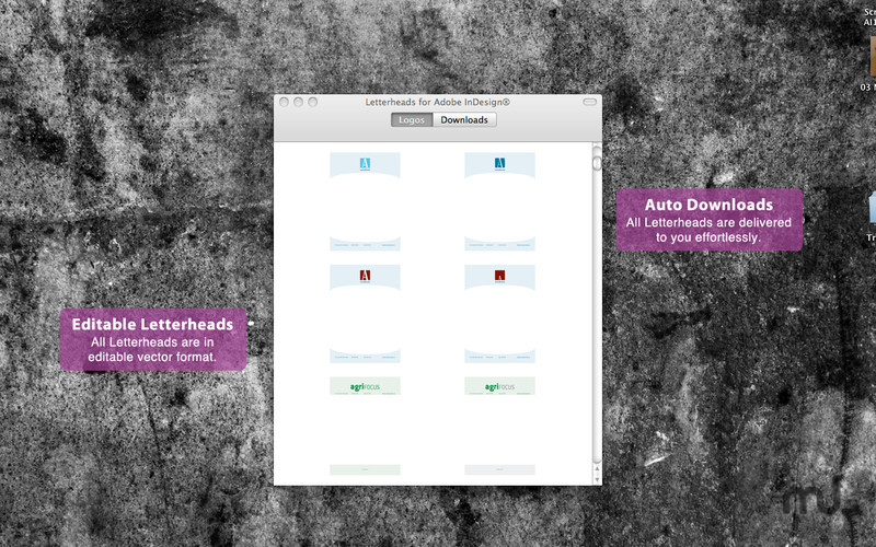 Screenshot 1 for Letterheads for Adobe InDesign