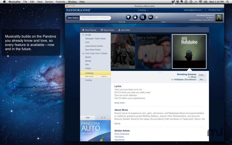 Screenshot 1 for Pandora+Musicality