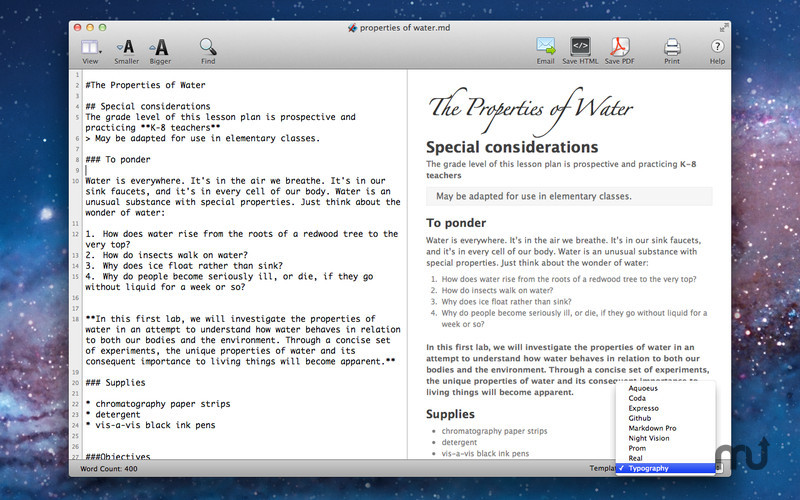 Screenshot 4 for Markdown Pro